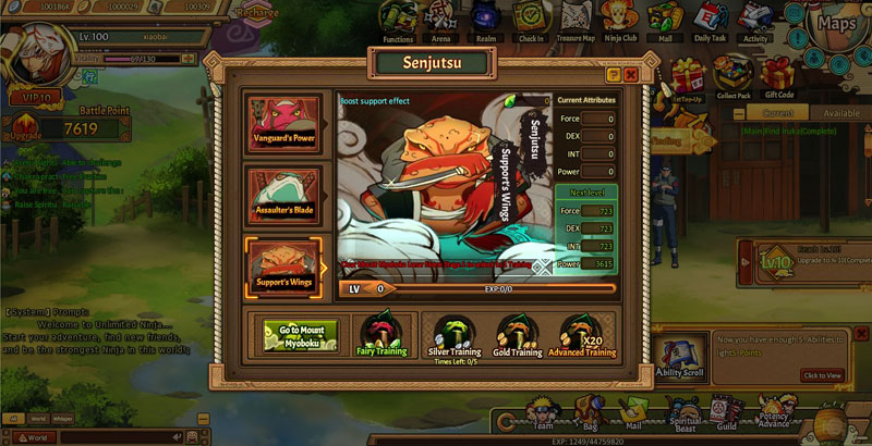 Unlimited Ninja - Free Naruto RPG Online Game - Joyfun.com